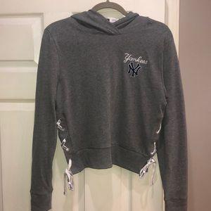 NWT VS Pink MLB Collection NY Yankees hoodie Small